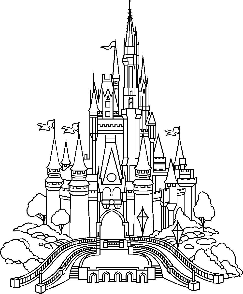 disney castle coloring page castle coloring page image by elize barnard on embroidery disney coloring castle page