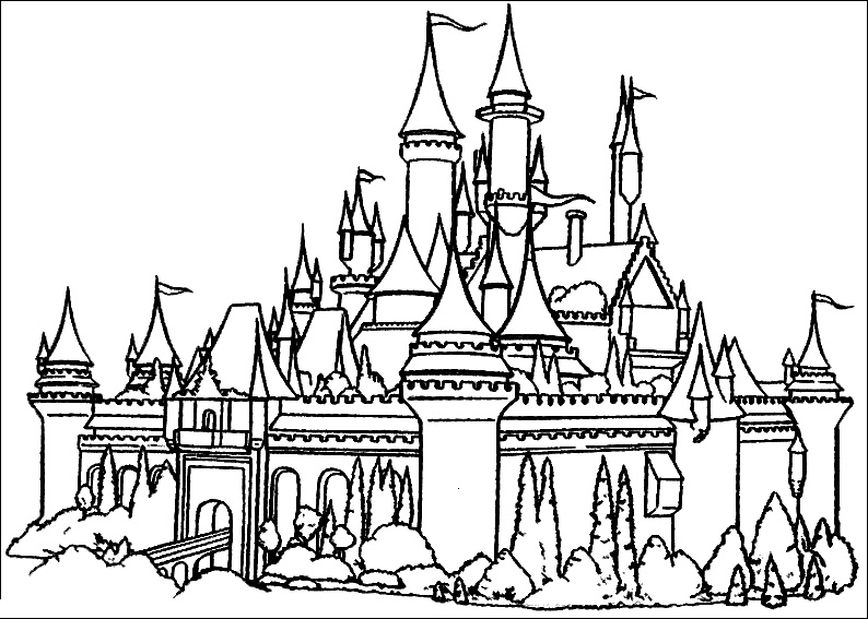 disney castle coloring page cinderella coloring pages to print disney castle page coloring