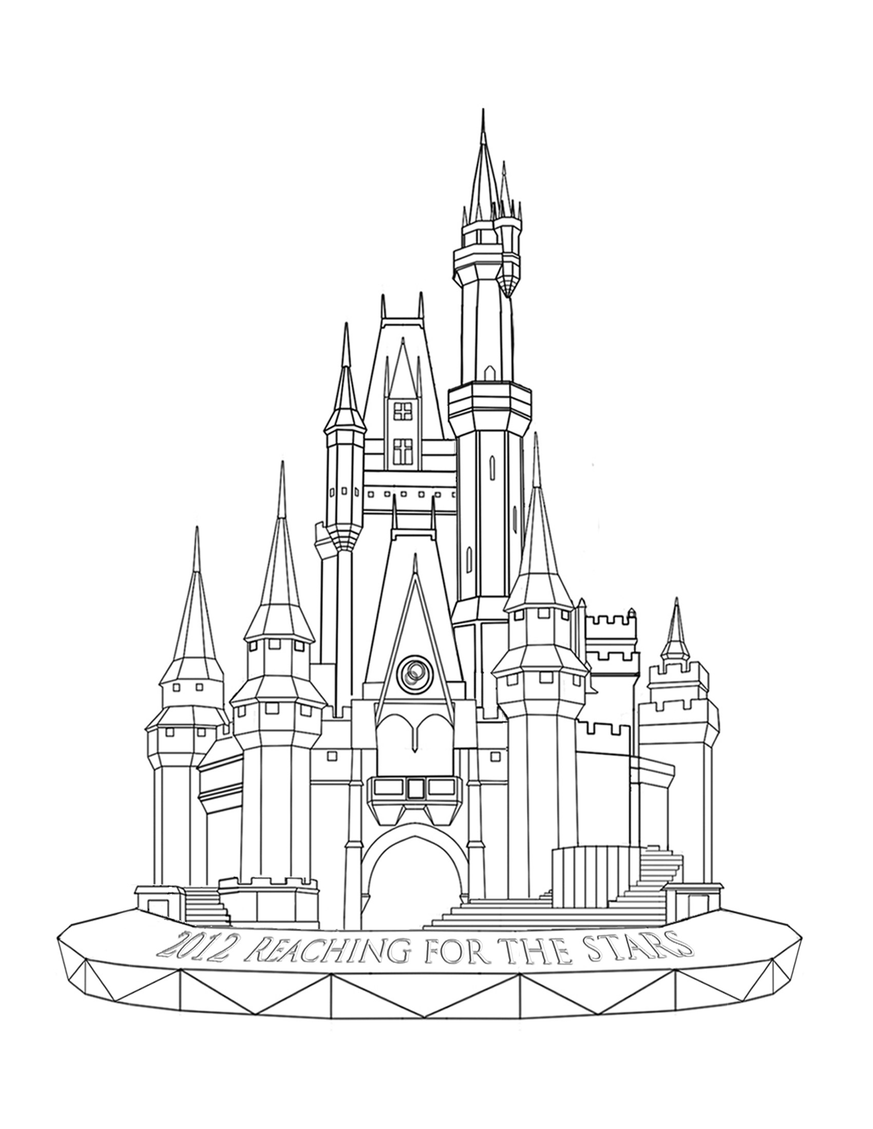 disney castle coloring page disneyland castle drawing at getdrawings free download coloring castle disney page