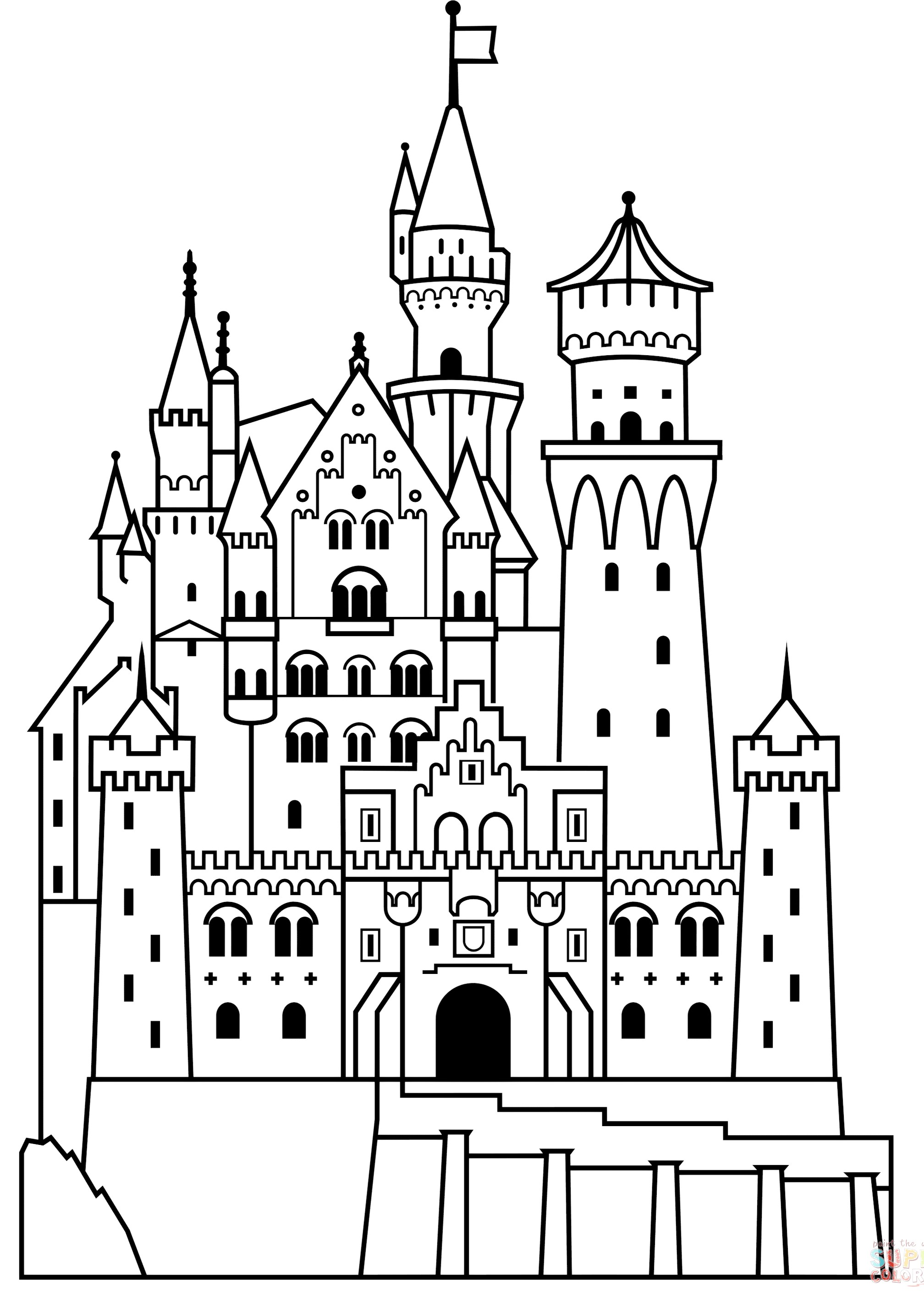 disney castle coloring page free printable cinderella coloring pages for kids cool2bkids page coloring castle disney