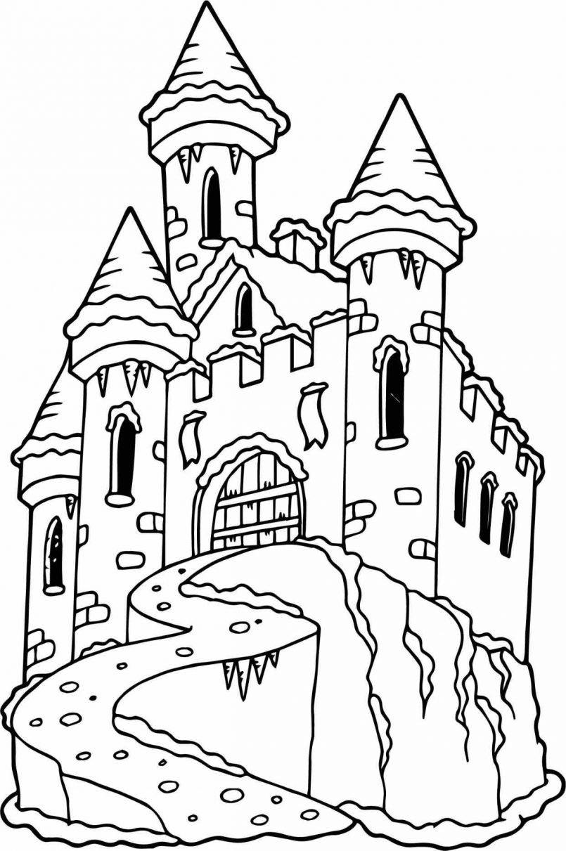 disney castle coloring page walt disney world castle drawing at getdrawings free page coloring disney castle