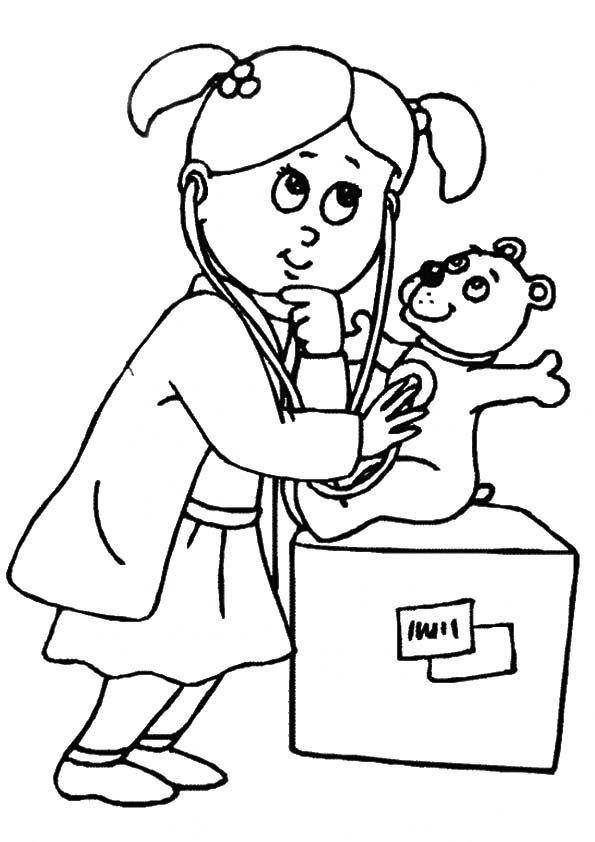 doctor for coloring doctor coloring pages for kids coloring home doctor coloring for