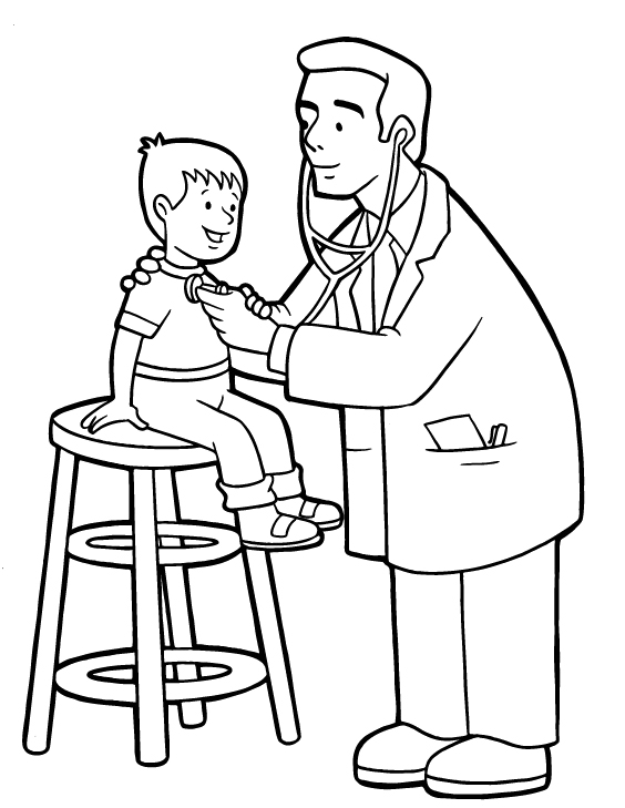 doctor for coloring doctor coloring pages for kids coloring home for doctor coloring