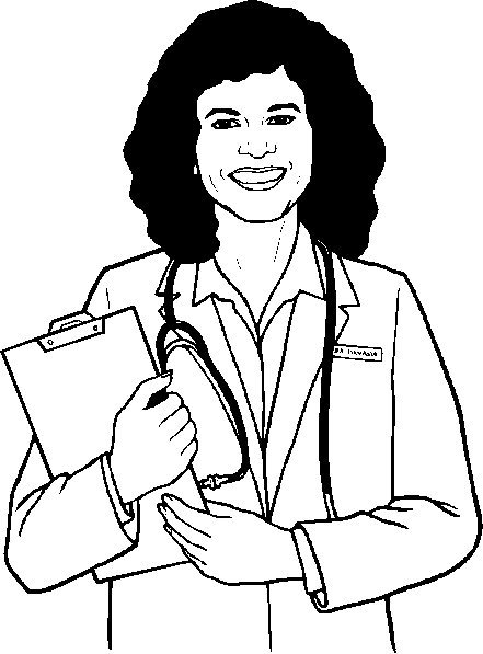doctor for coloring woman doctor coloring pages coloring home for doctor coloring
