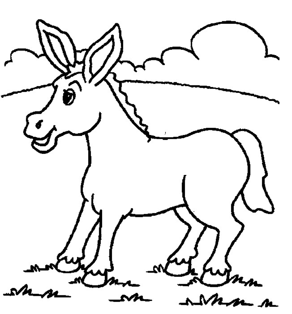 donkey colouring pages color this donkey for easter color the bible colouring donkey pages