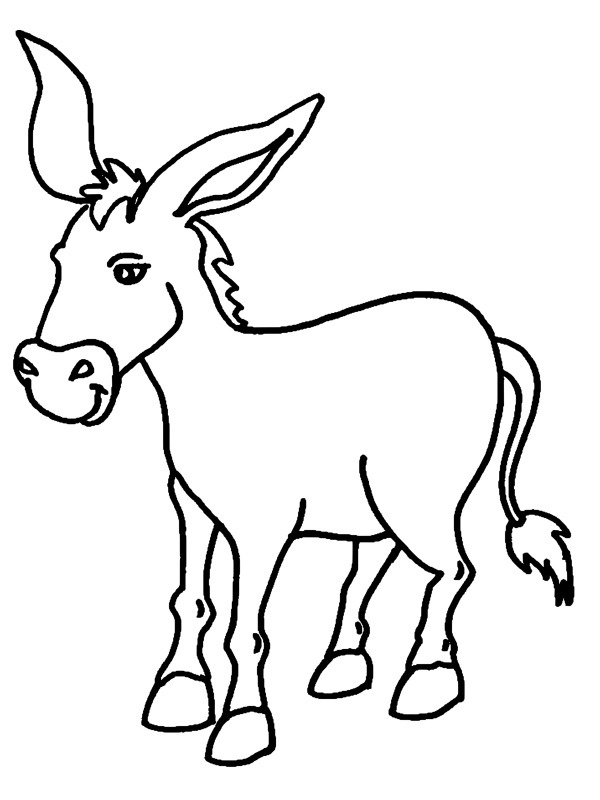 donkey colouring pages donkey color page 1001coloringcom colouring donkey pages
