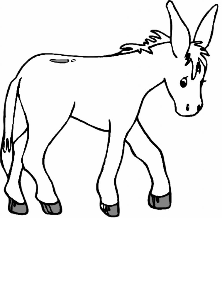 donkey colouring pages donkey coloring pages for kids preschool and kindergarten donkey colouring pages