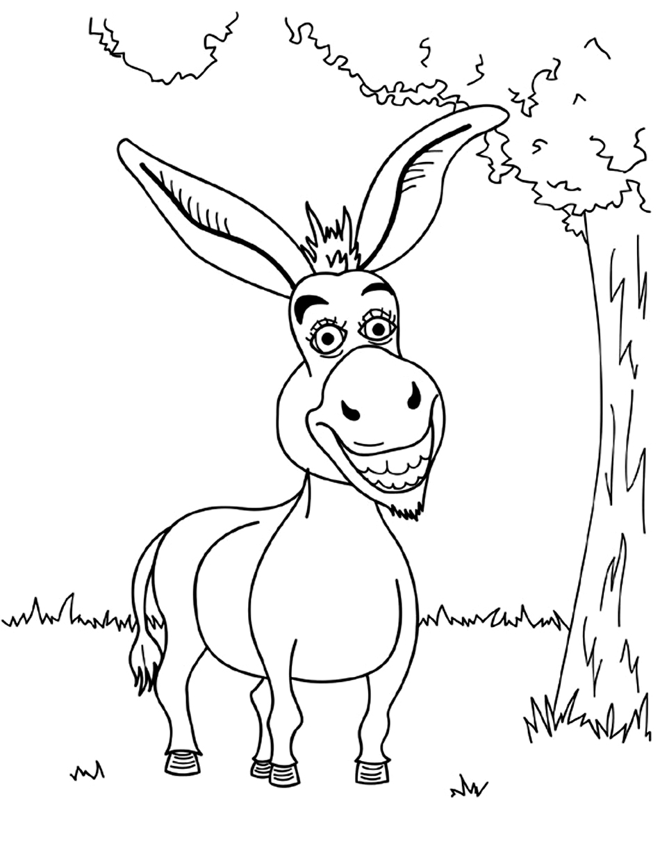 donkey colouring pages donkeys coloring pages coloring kids pages colouring donkey