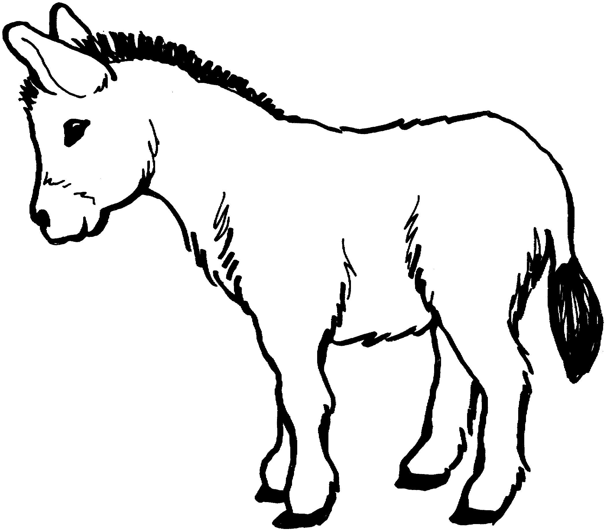donkey colouring pages free printable donkey coloring pages for kids donkey pages colouring 1 1