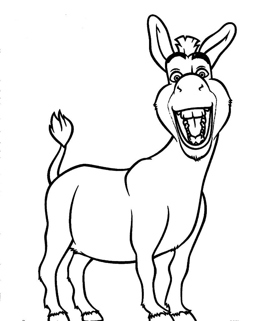 donkey colouring pages free printable donkey coloring pages for kids sketch donkey colouring pages