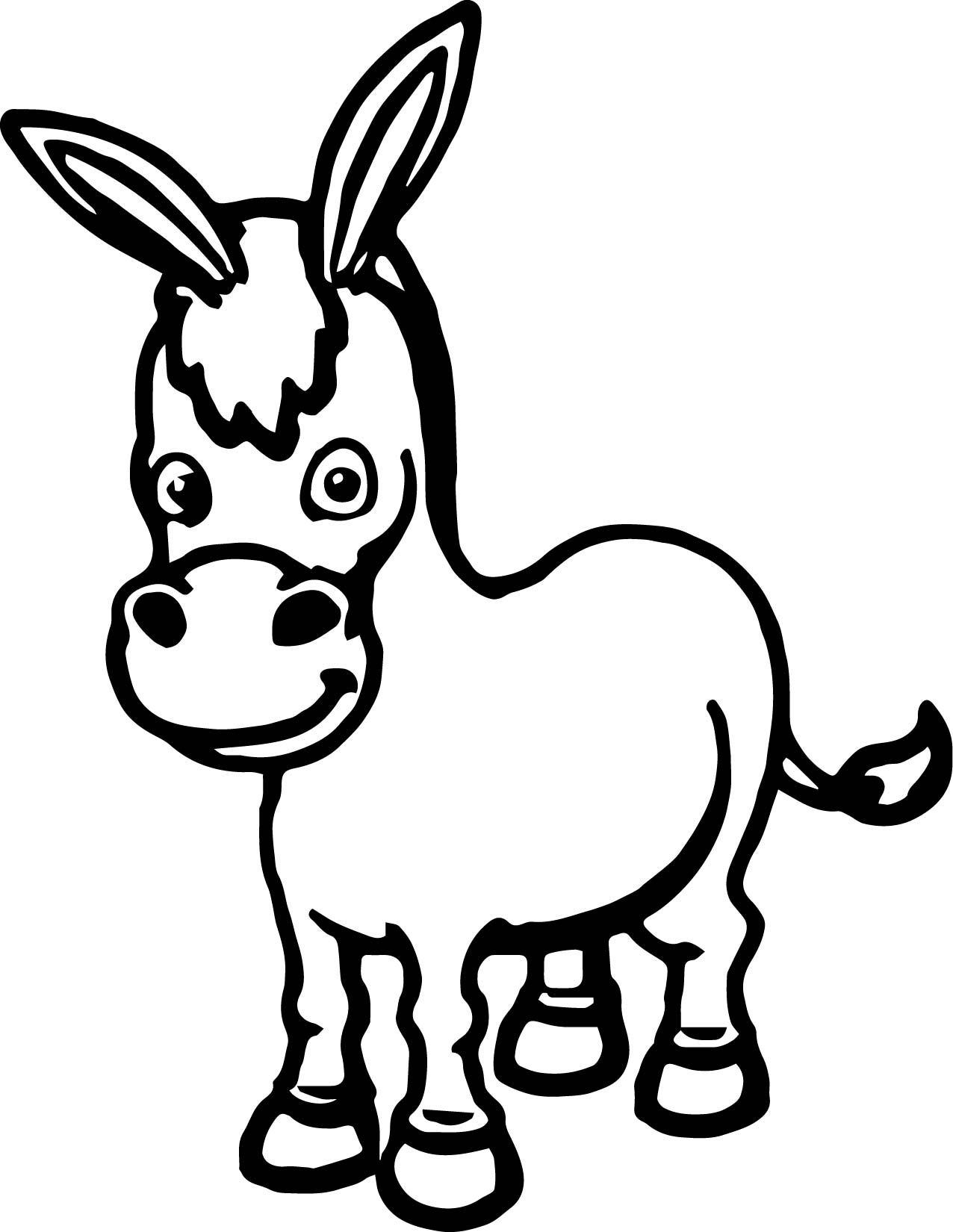 donkey colouring pages free printable donkey coloring pages tripafethna donkey colouring pages