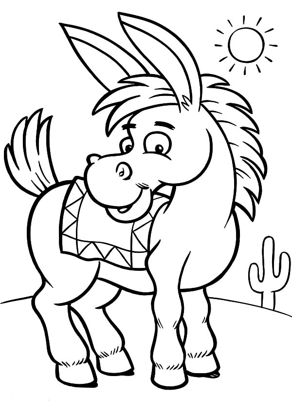 donkey colouring pages mexican donkey on a sunny day coloring pages color luna donkey pages colouring