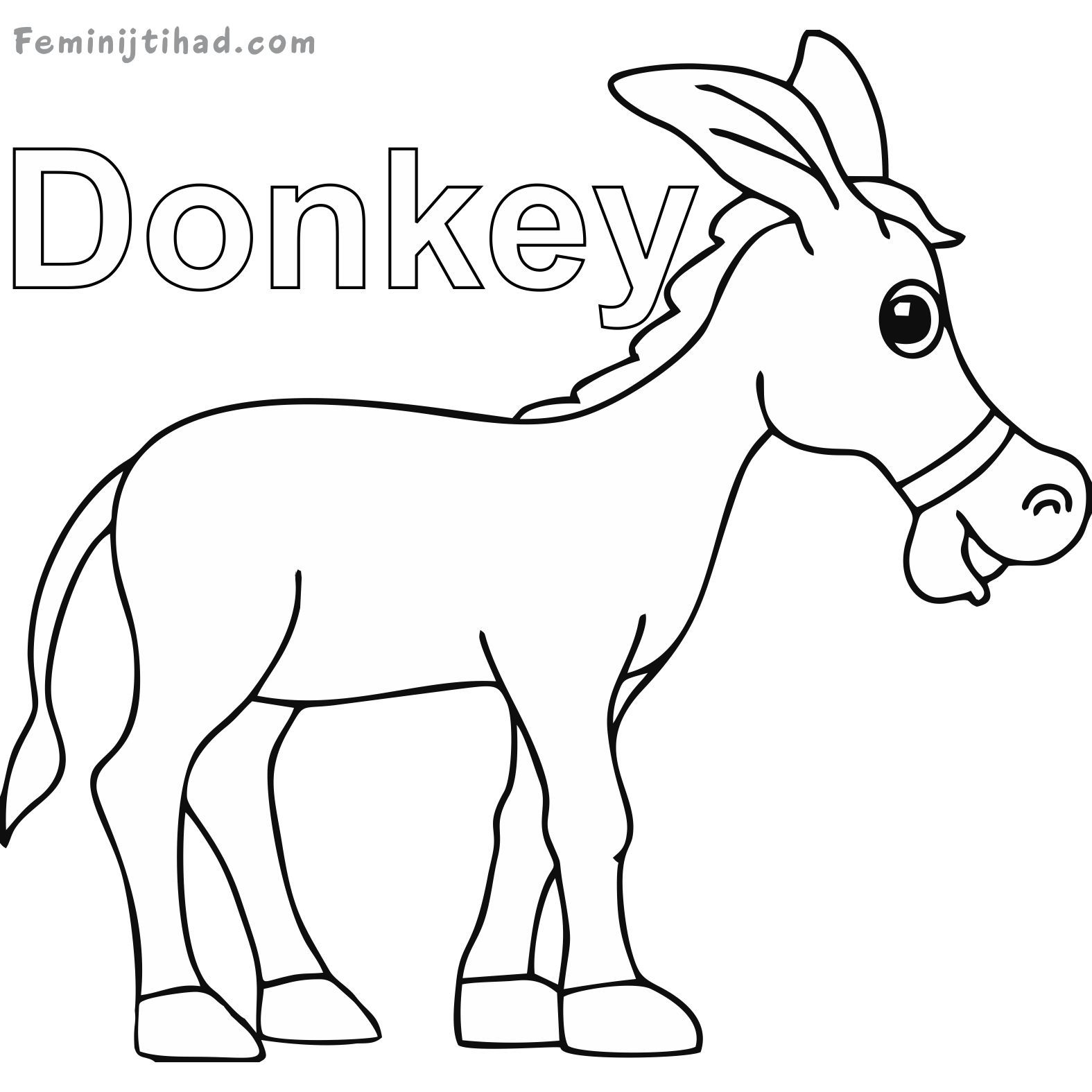 donkey colouring pages printable donkey coloring pages coloring pages coloring pages donkey colouring