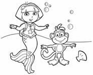 dora mermaid coloring pages dora coloring lots of dora coloring pages and printables mermaid dora coloring pages