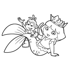 dora mermaid coloring pages dora coloring pages free printables momjunction mermaid coloring pages dora