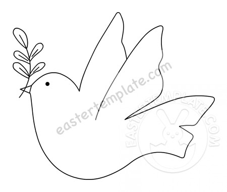 dove holding olive branch dove carrying olive branch printable easter template olive holding branch dove