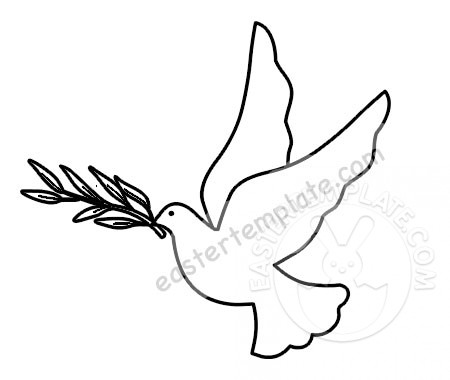 dove holding olive branch dove holding olive branch coloring page easter template olive holding dove branch