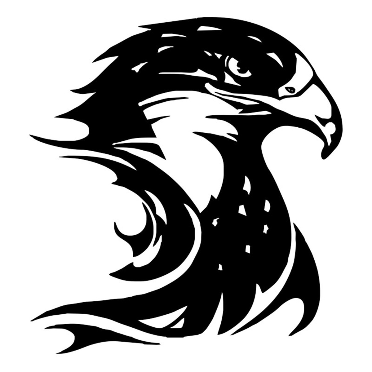 eagle head silhouette bald eagle head silhouette car sticker laptop truck home silhouette eagle head