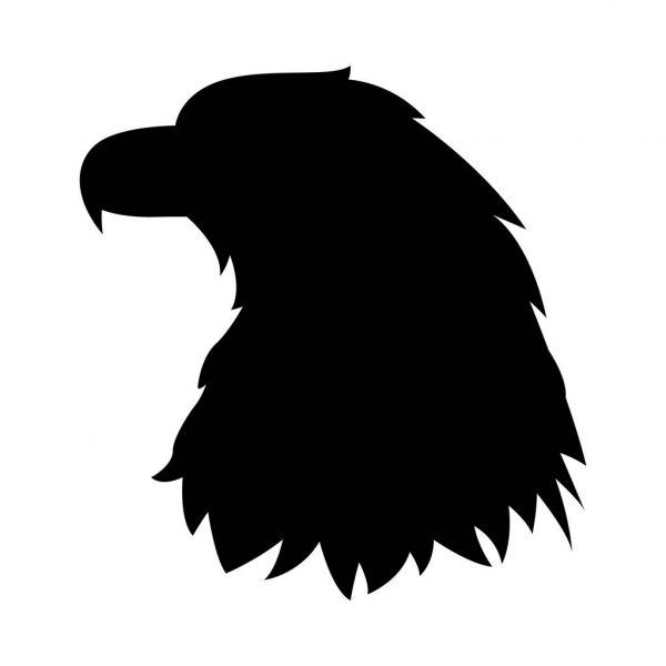 eagle head silhouette eagle head decal silhouette head eagle