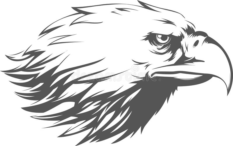 eagle head silhouette eagle head silhouette vector image in 2020 silhouette head eagle silhouette