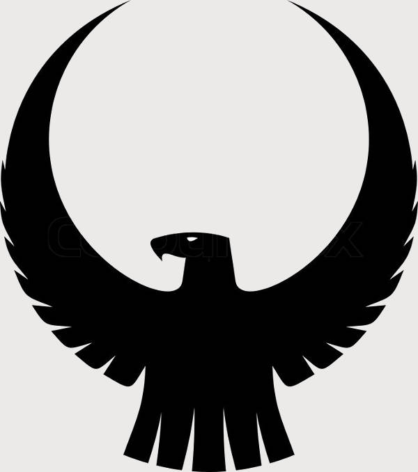 eagle head silhouette eagle head vector side view silhouette stock vector eagle silhouette head