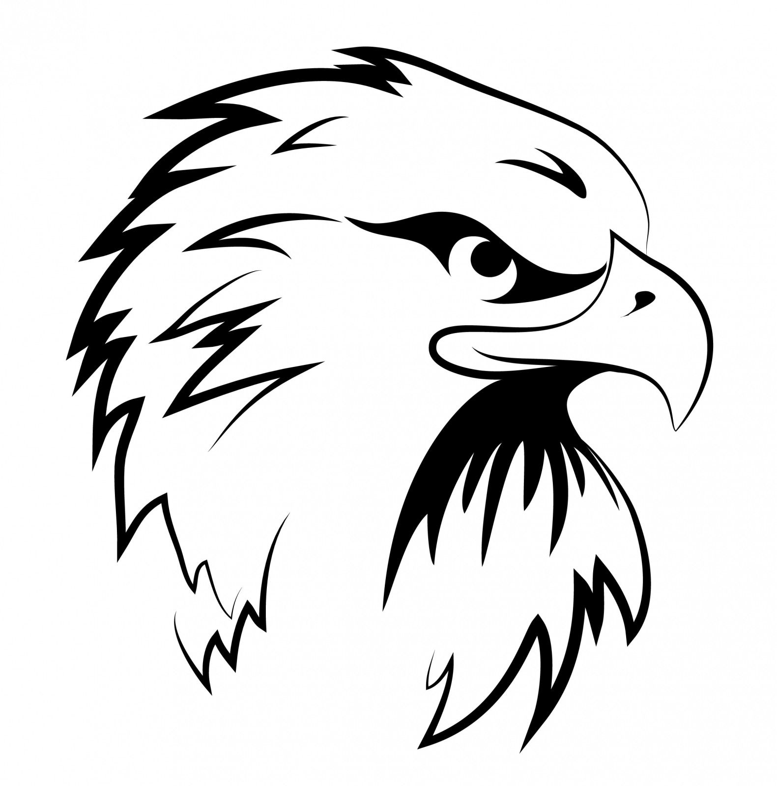 eagle head silhouette silhouette eagle head at getdrawings free download silhouette eagle head
