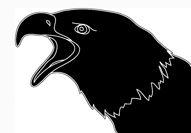 eagle head silhouette svg library philippine eagle silhouette at getdrawings head silhouette eagle