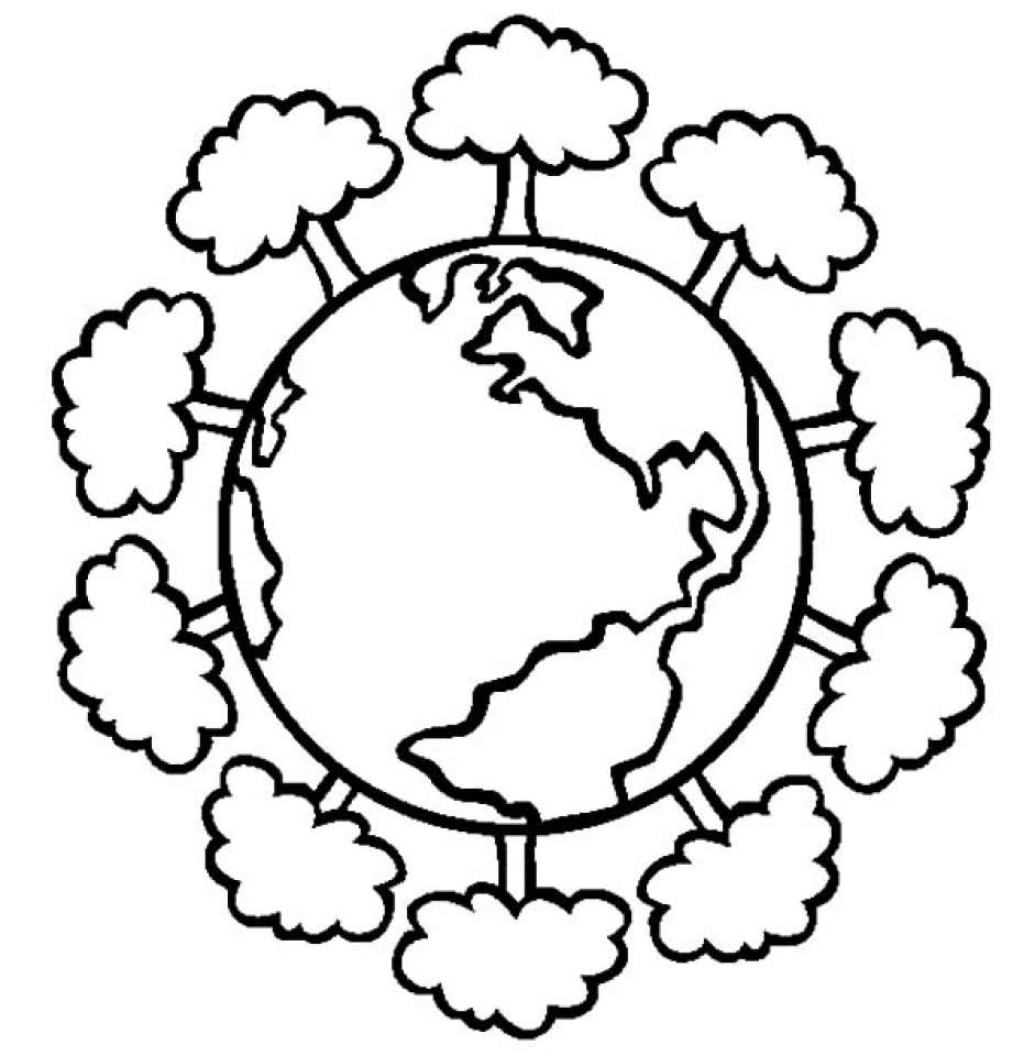 earth coloring pages free a happy earth on earth day coloring page download earth pages free coloring