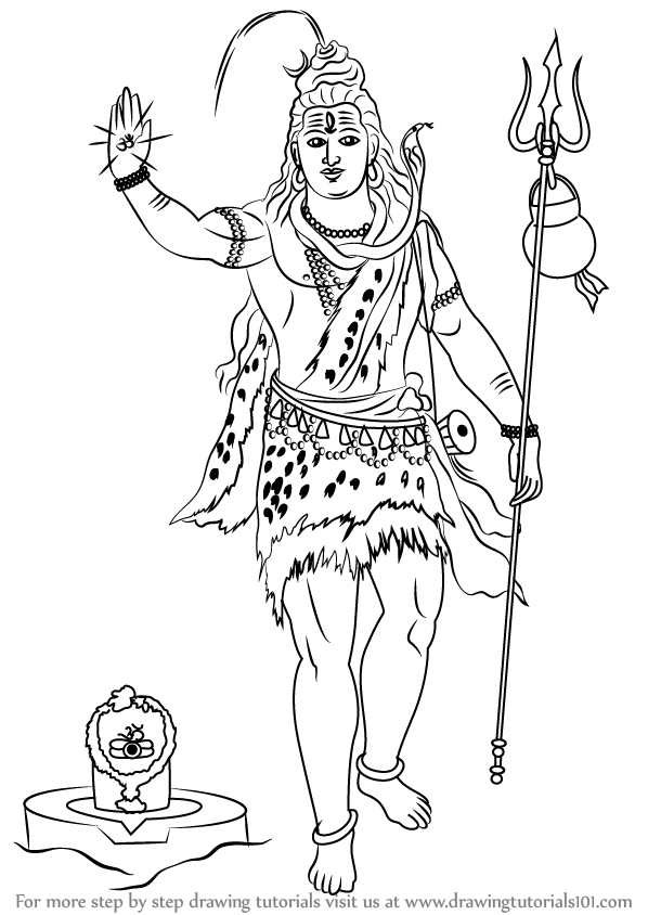 easy drawing of lord shiva learn how to draw lord shiva face hinduism step by step lord of easy drawing shiva