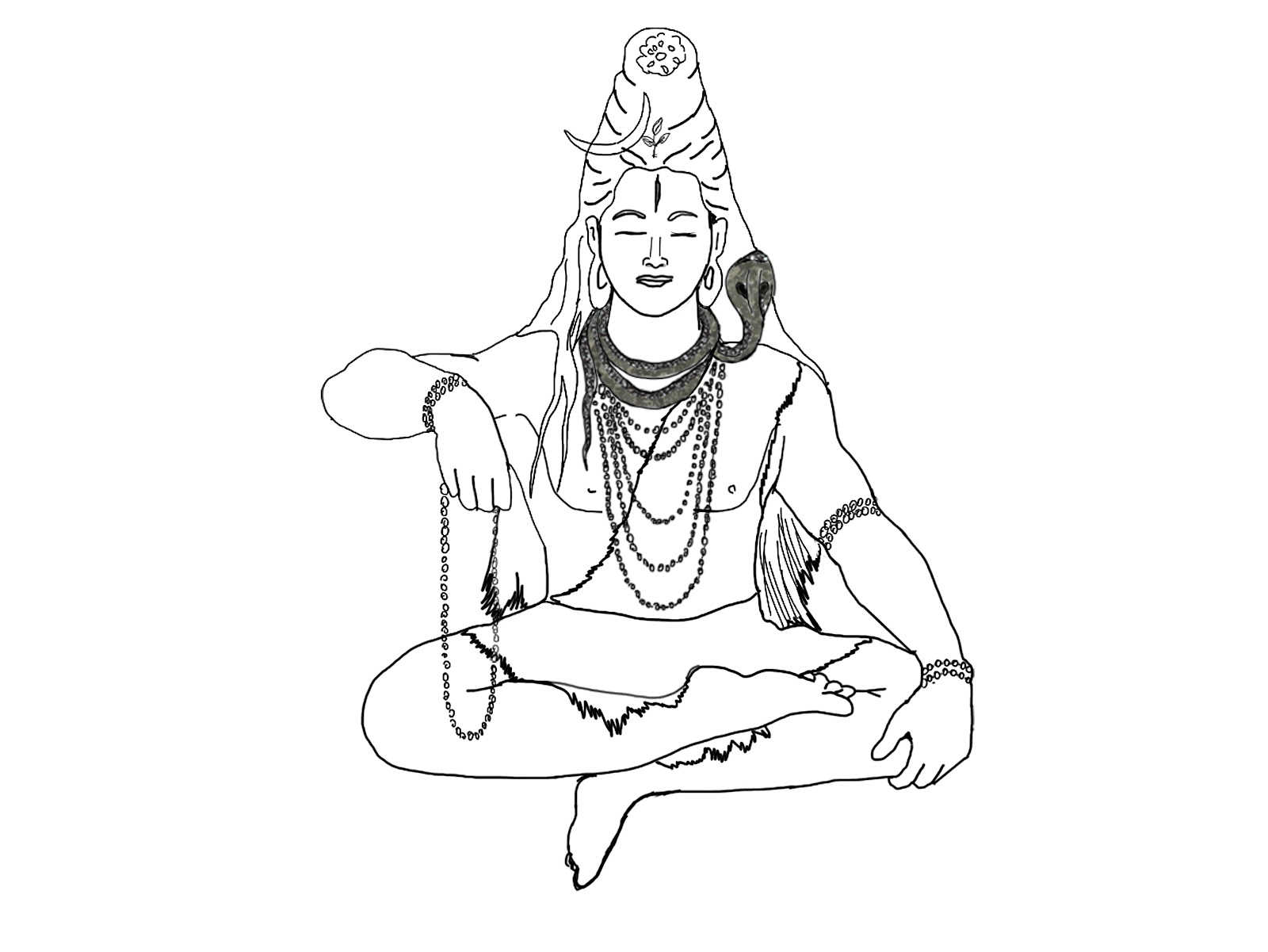 easy drawing of lord shiva learn how to draw lord shiva standing hinduism step by drawing shiva of easy lord