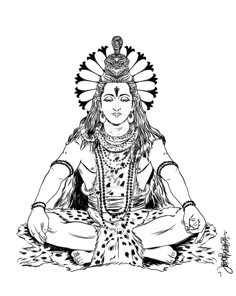 easy drawing of lord shiva maha shivaratri coloring page shiva coloring page maha drawing of easy lord shiva