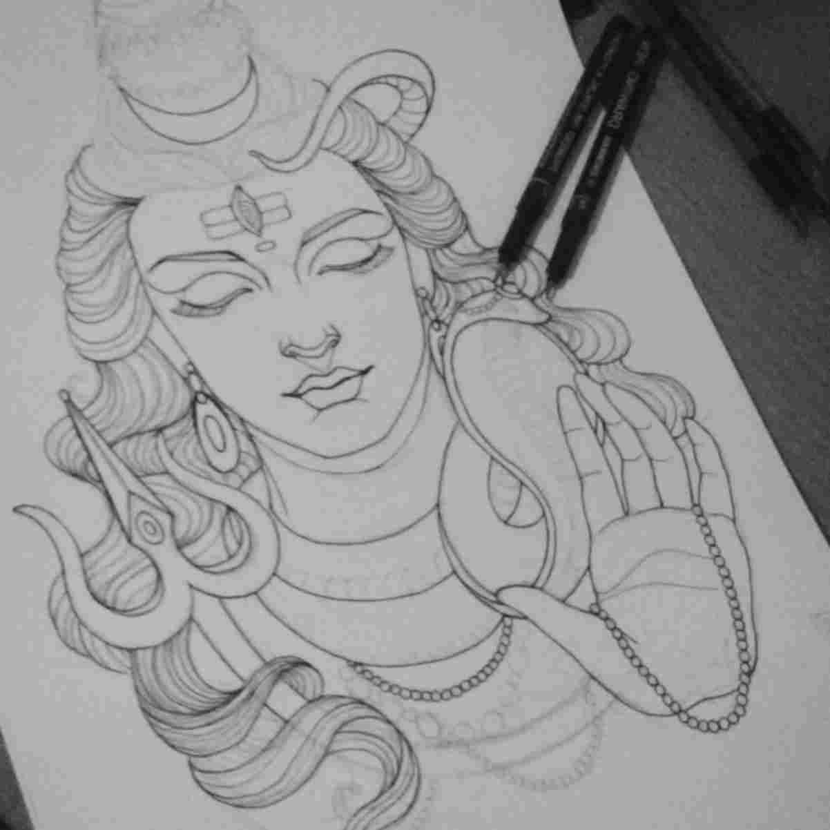 easy drawing of lord shiva the best free shiva drawing images download from 191 free lord easy shiva drawing of