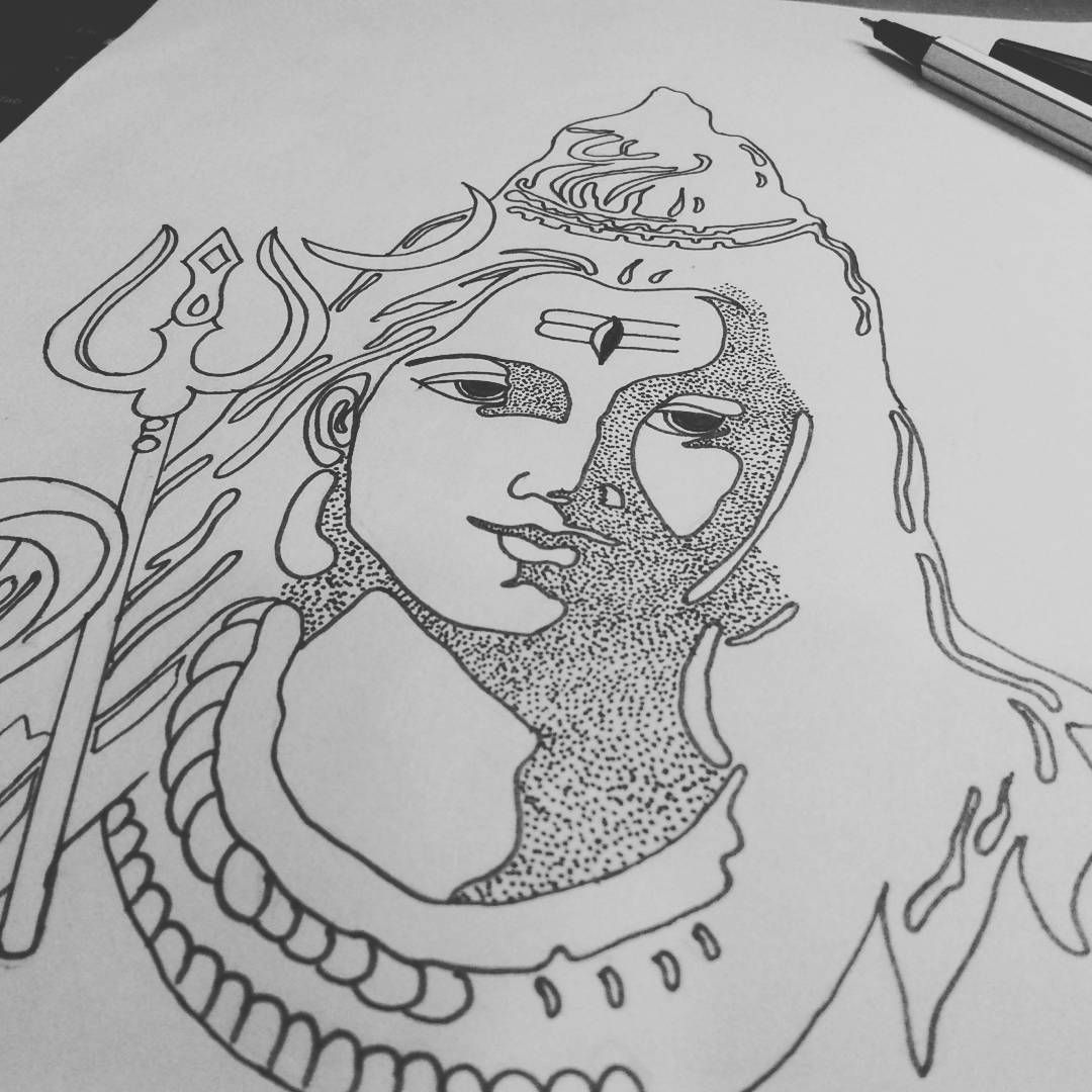 easy drawing of lord shiva what is the best sketch of shiva quora of easy lord shiva drawing