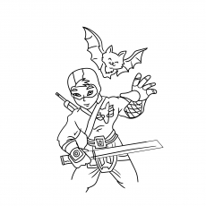 easy ninja coloring pages how to draw how to draw a ninja for kids hellokidscom coloring ninja pages easy