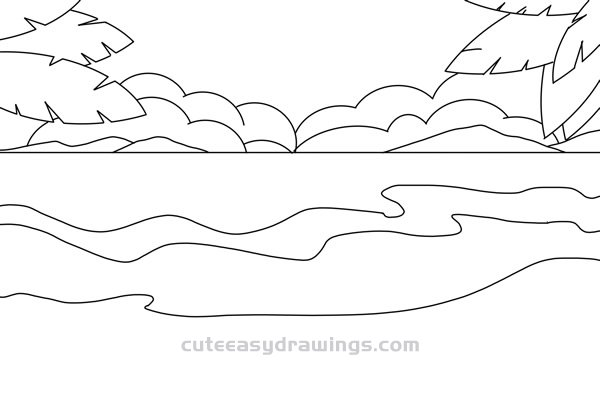easy to draw beach scene simple beach drawing at getdrawings free download beach to scene draw easy