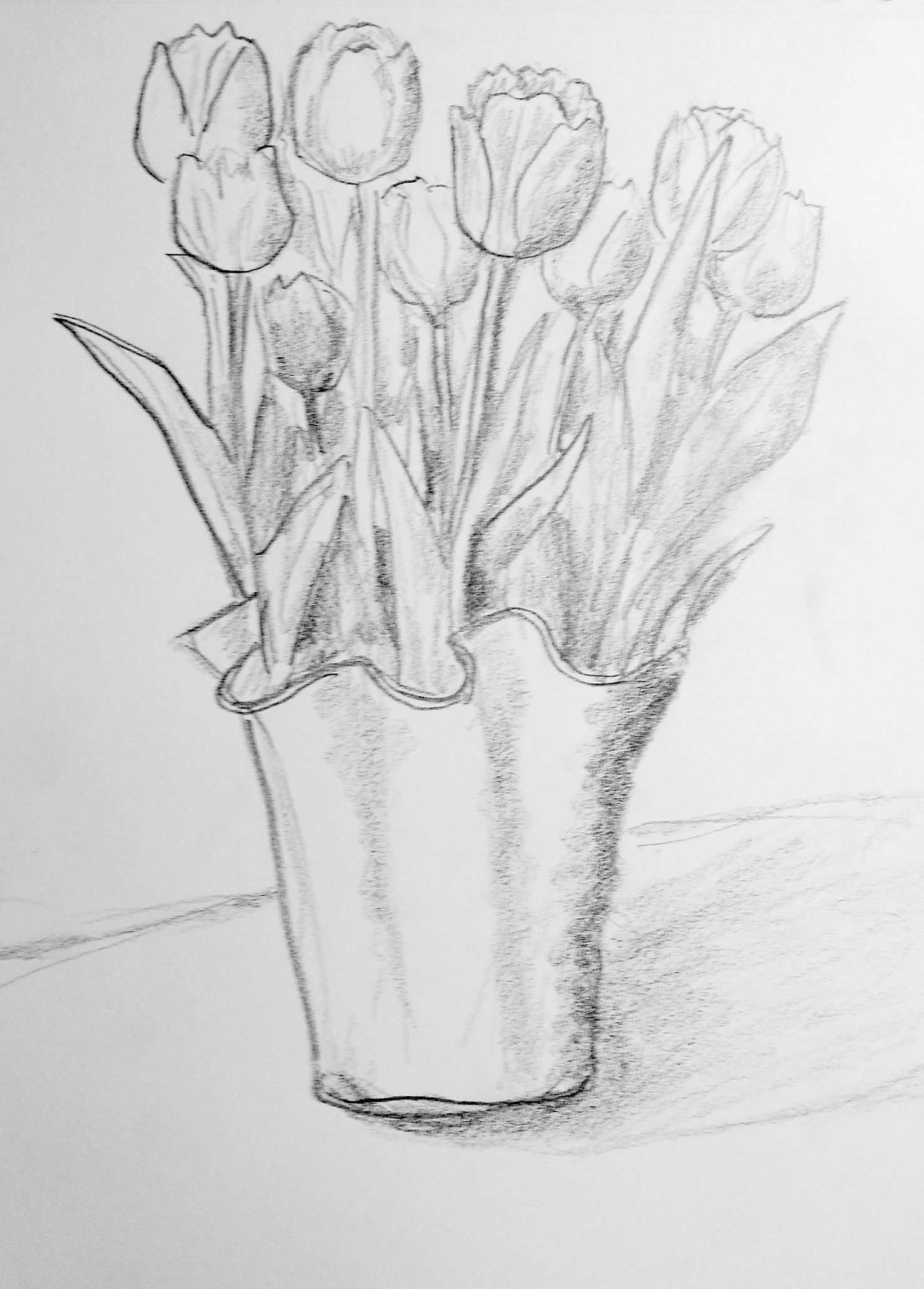 easy tulip drawing easy tulip drawing step by step easydrawingtips tulip easy drawing