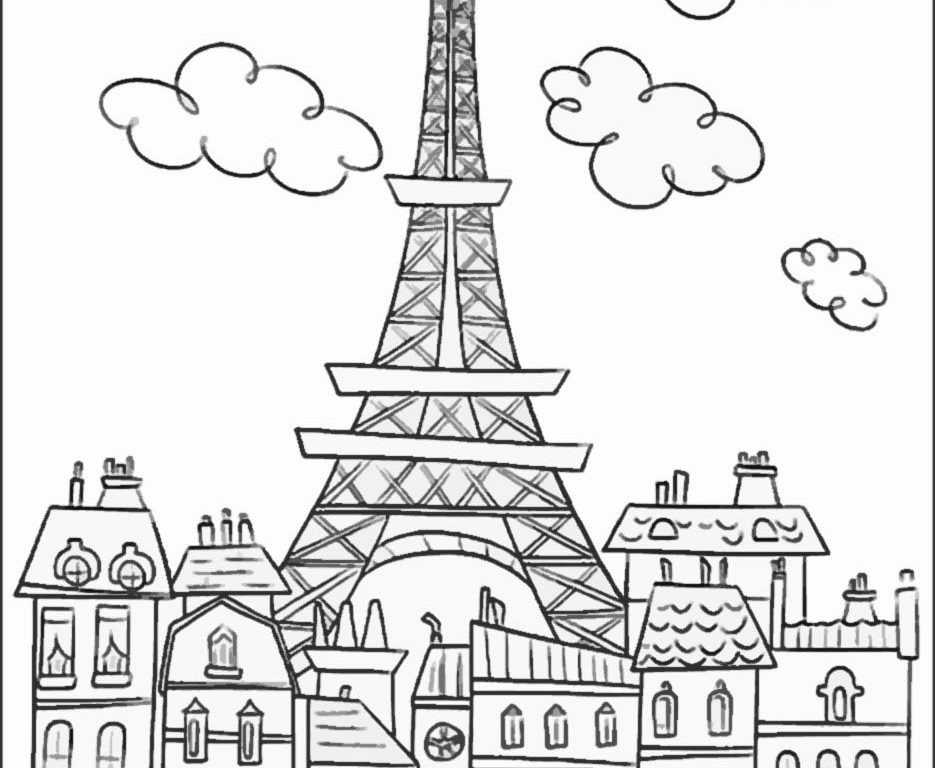 eiffel tower coloring pages eiffel tower coloring pages for kids at getdrawings free tower coloring pages eiffel