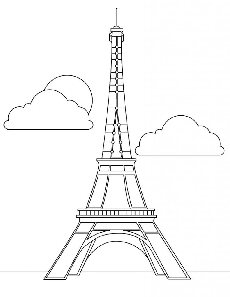 eiffel tower coloring pages free printable eiffel tower coloring pages for kids pages coloring eiffel tower