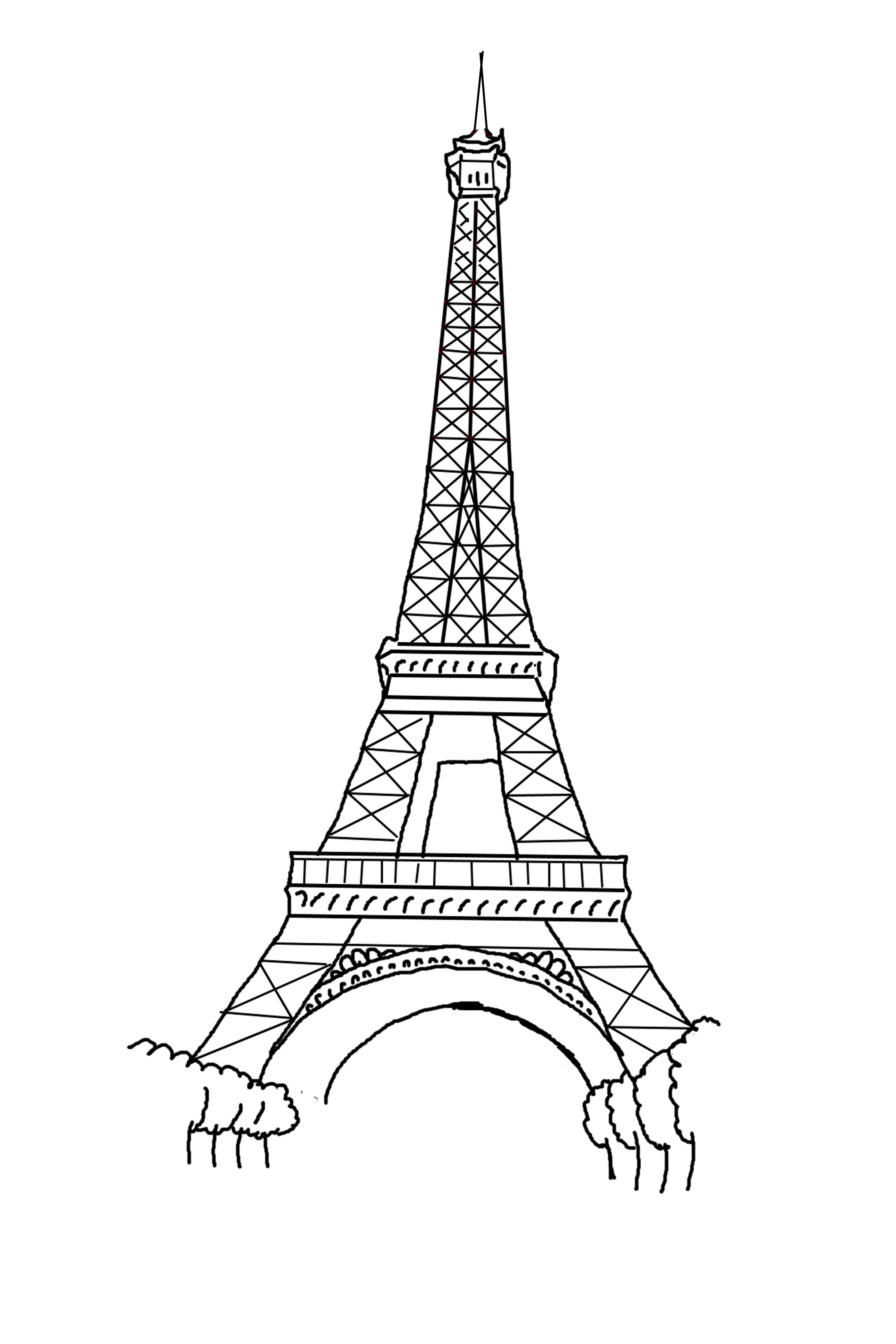 eiffel tower coloring pages printable eiffel tower coloring pages for kids cool2bkids tower eiffel pages coloring