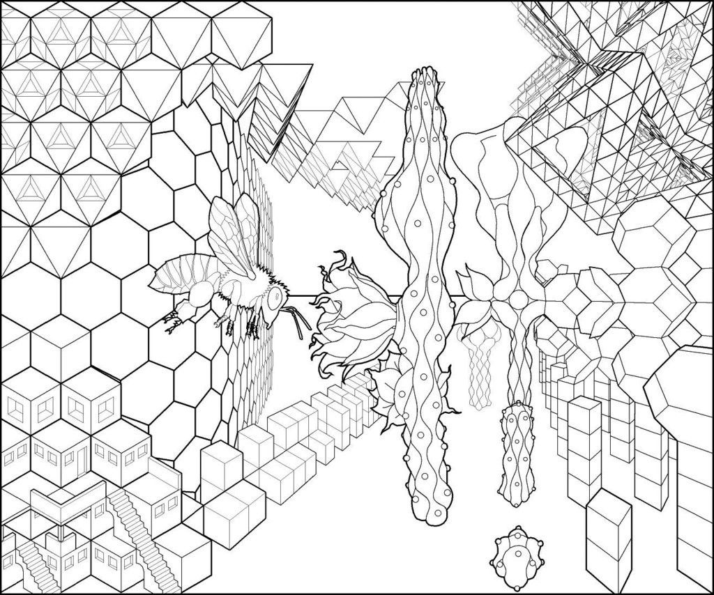 escher coloring pages pegasus tessellation by mc escher coloring page free escher pages coloring