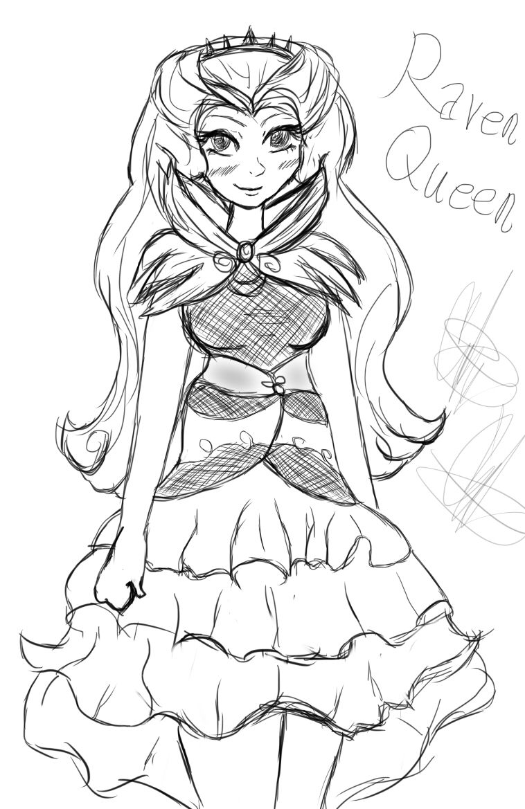 ever after high pictures ever after high raven queen doodle by coco apple on high after ever pictures