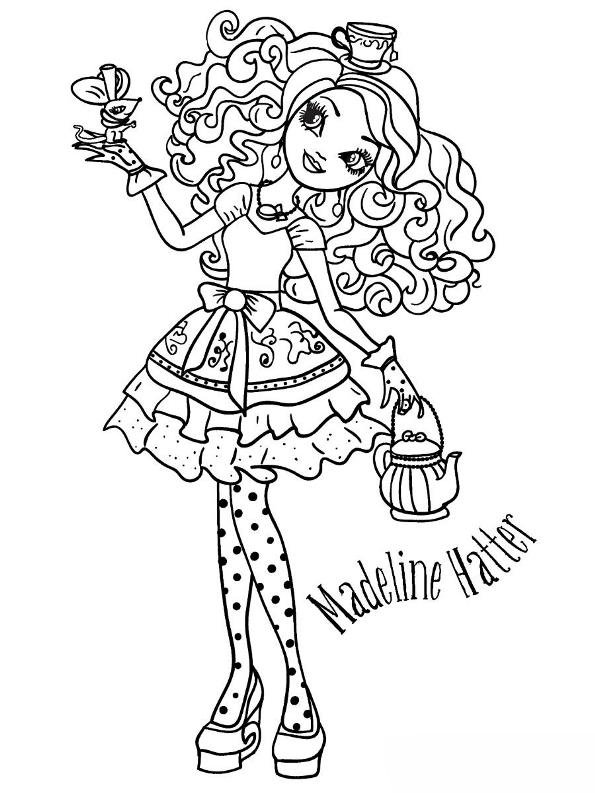 ever after high pictures kids n fun kleurplaat ever after high madeline hatter 2 after high pictures ever