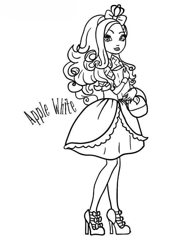 ever after high pictures kids n funde malvorlage ever after high apple white ever high after pictures