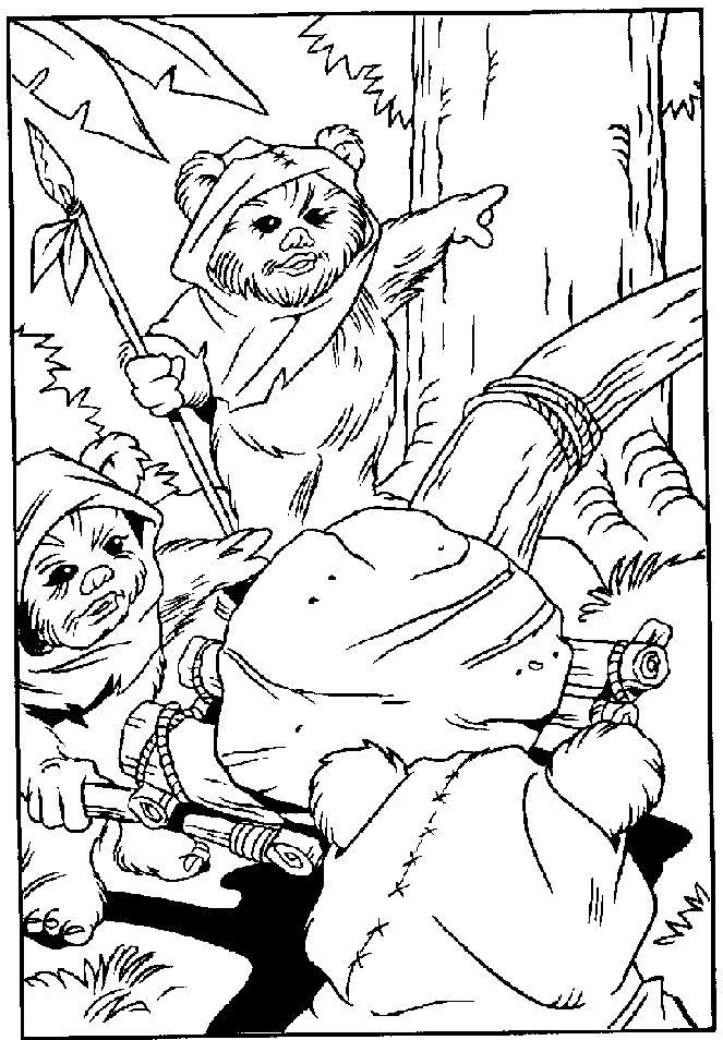 ewok coloring page 244 best images about coloring pages on pinterest ewok page coloring