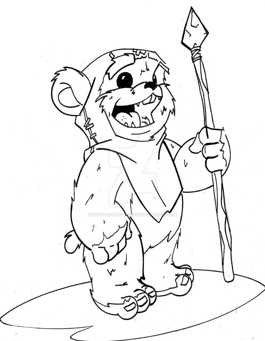 ewok coloring page cute ewok coloring pages page coloring ewok
