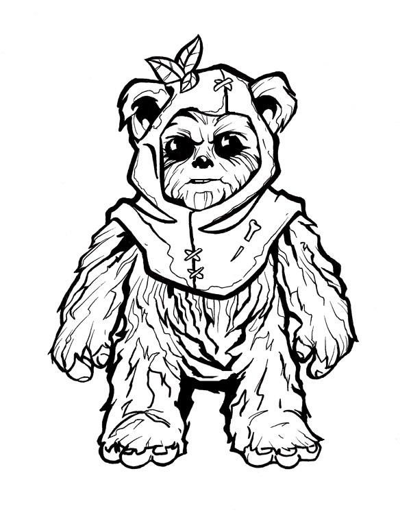 ewok coloring page ewok coloring pages coloring home coloring ewok page