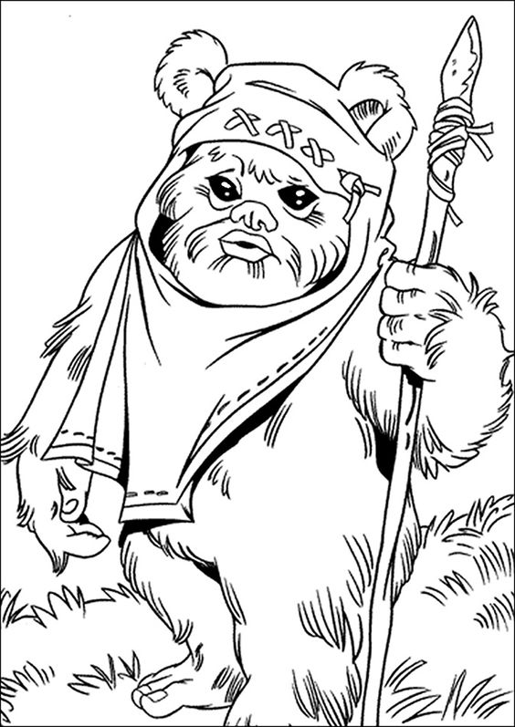 ewok coloring page ewok coloring pages coloring home coloring page ewok