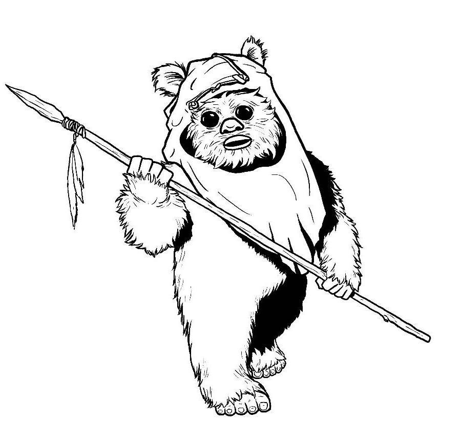 ewok coloring page ewok coloring pages coloring home page coloring ewok