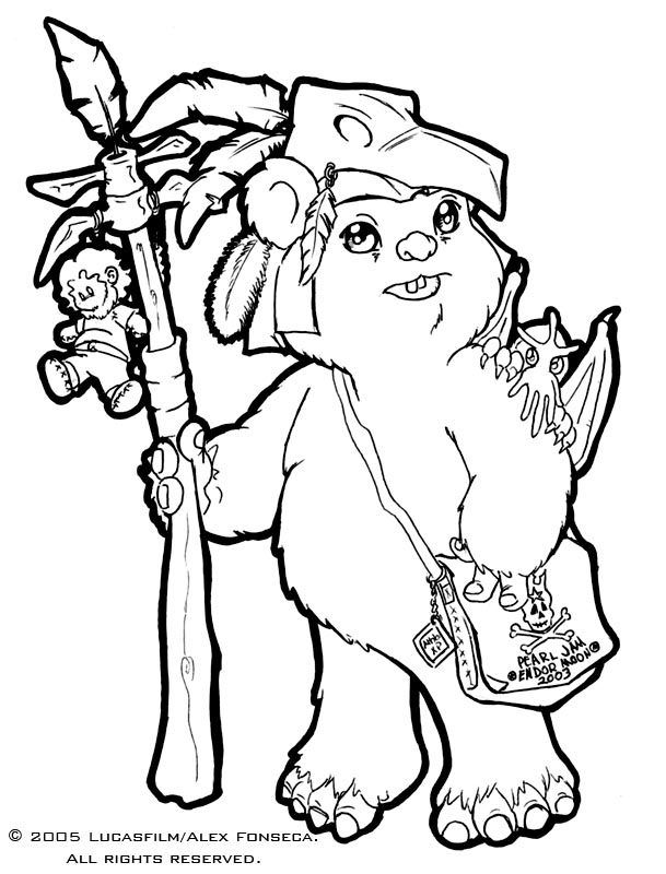 ewok coloring page ewok coloring pages coloring home page coloring ewok 1 1