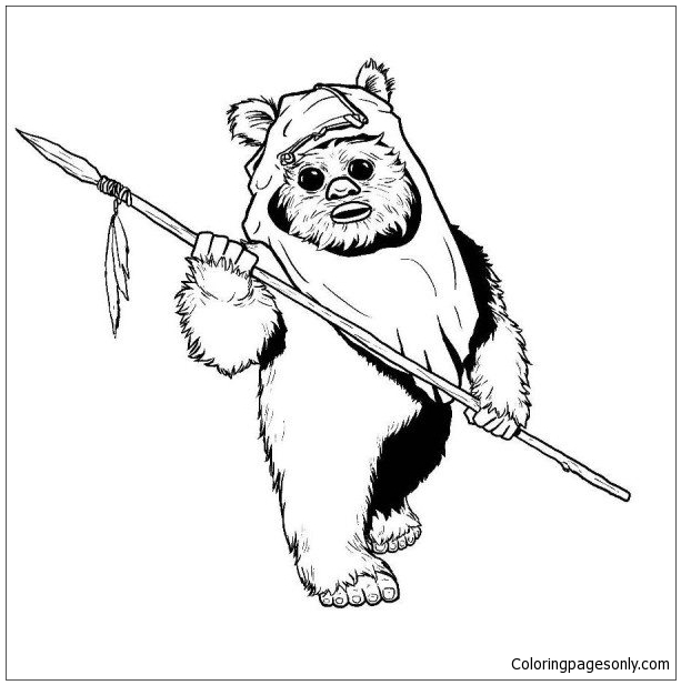 ewok coloring page ewok from star wars coloring page free coloring pages online page ewok coloring